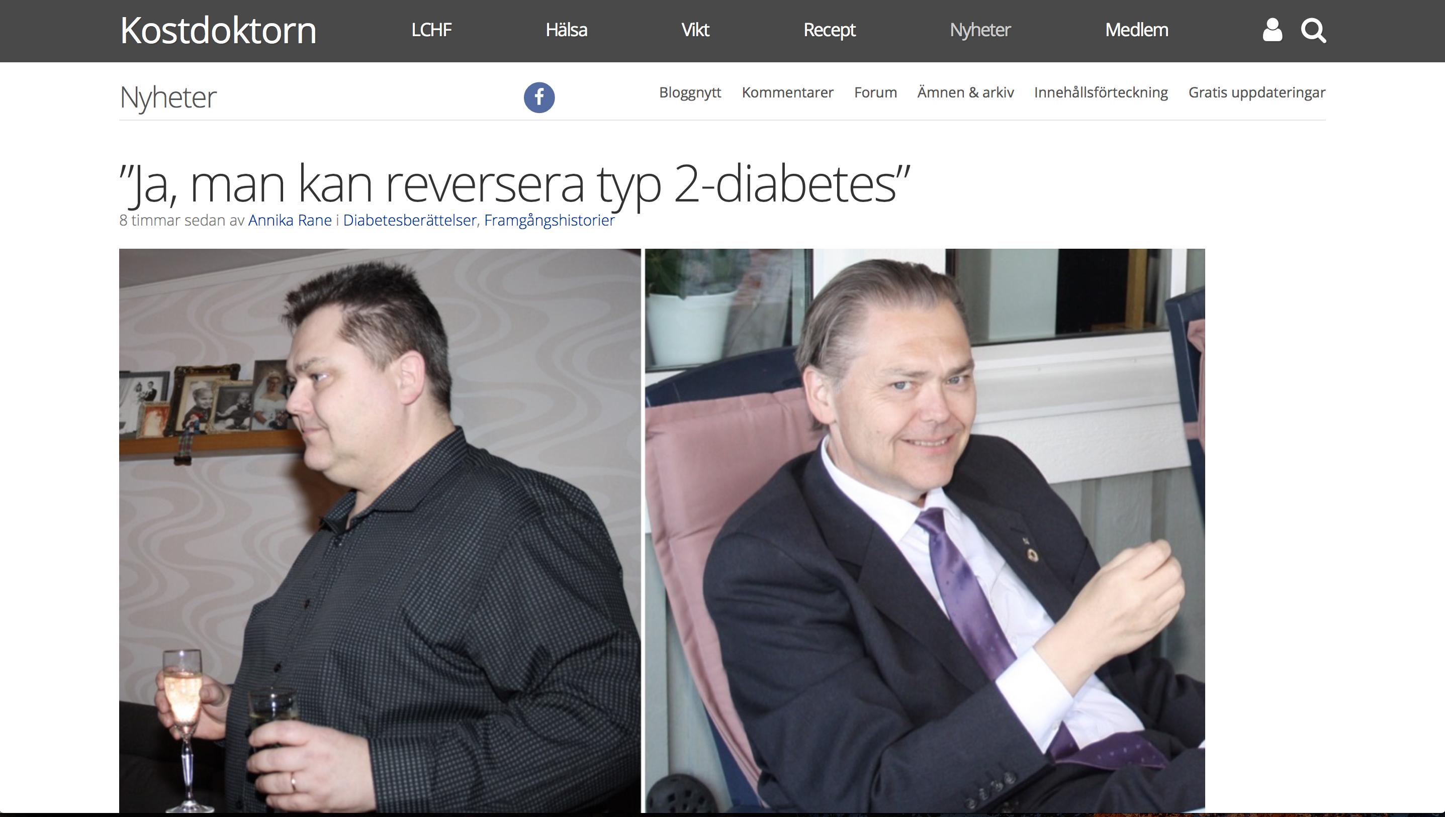 Min hälsoresa har uppmärksammats hos Kostdoktorn.se